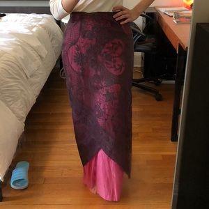 TWO maxi skirts.1) Layered maxi skirt 2) Wrap maxi